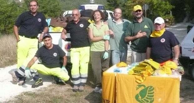 Volontari in azione