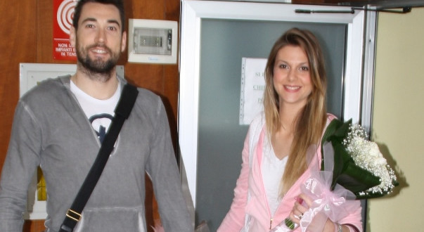 Savani con la moglie Mihaela