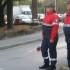 Volontari dell'associazione in servizio al piazzale Luzio