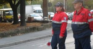 Federica Coccettini in servizio al piazzale Luzio