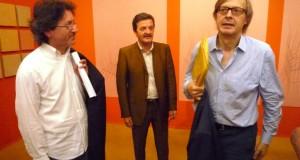 Paolo Gobbi assieme a Vittorio Sgarbi e Cesare Martini