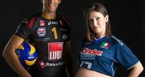 Lampariello e la compagna Raquel nei mesi della maternità