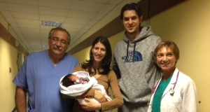 La famiglia Stankovic all'ospedale di San Severino