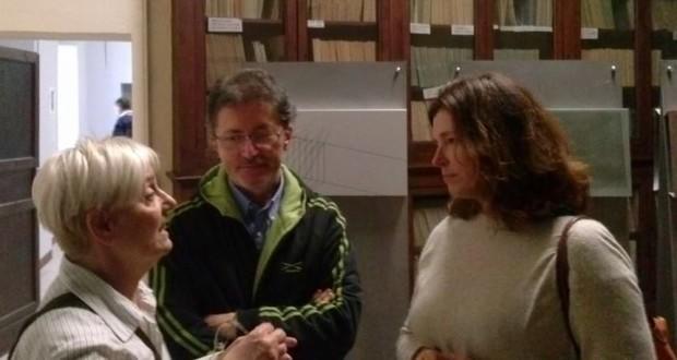 Donella Bellabarba con Paolo Gobbi e la figlia del prof. Giorgio Zampa