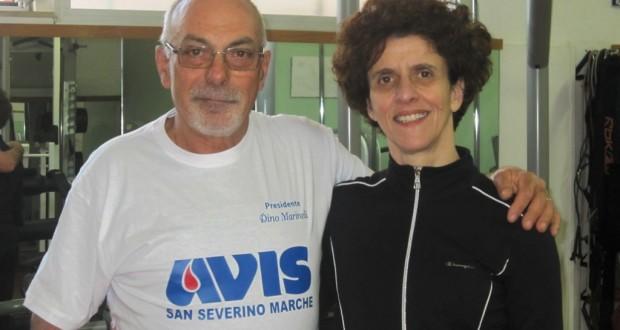 Il presidente dell'Avis, Dino Marinelli, assieme a Carla Soverchia, ideatrice della manifestazione