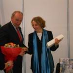 La vincitrice assieme al prof. Papetti