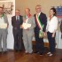 Piermattei (quarto da sinistra) accanto al Prefetto e al sindaco di Macerata. Alla sua destra ci sono anche il sindaco Martini e il presidente provinciale dell'Anpi