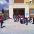 L'ingresso della scuola primaria Luzio