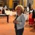 Serenella Eugeni nella chiesa di San Giovanni, sede della mostra