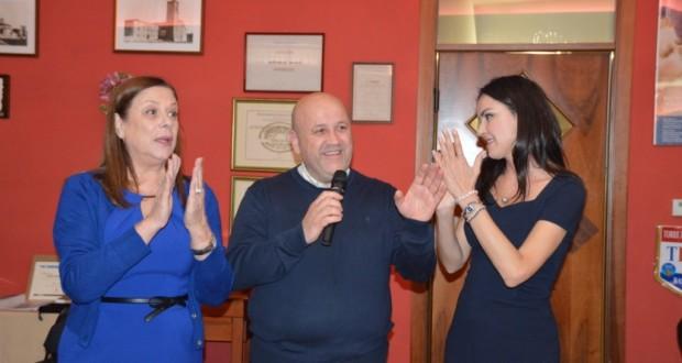 Paolo Severini con la signora Anny Lazzari e sua figlia Monica