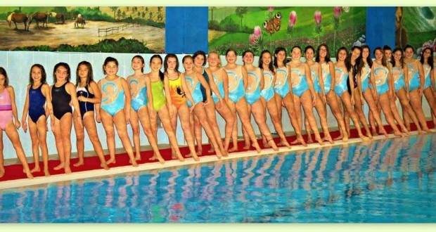 Le giovanissime del nuoto sincronizzato