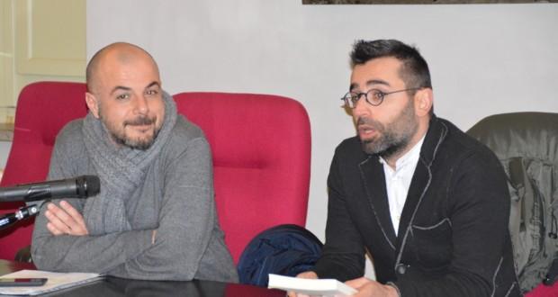 Petracci (a sinistra) e Rocchetti alla presentazione del libro