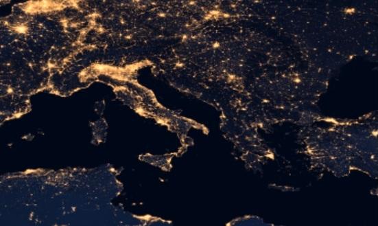 L'Italia illuminata