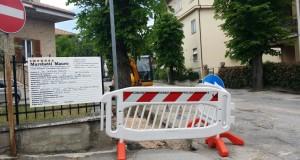 Lavori in corso in viale Europa