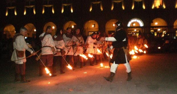 La rievocazione e gli arcieri di fuoco