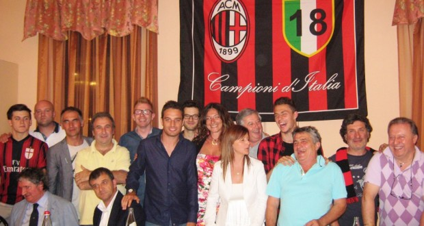 Bonaventura e Felicioli alla festa del Milan Club