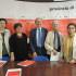 La conferenza stampa: da sinistra Silvia Pinzi, Paola Mariani, Massimo Ciambotti, Luciano Gregoretti, Maria Teresa Copelli