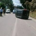 """Fiat Doblò si ribalta sulla """"361. La colpa? Di un insetto"""