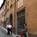 Lapide in ricordo di Aleandri nella casa di via Battisti