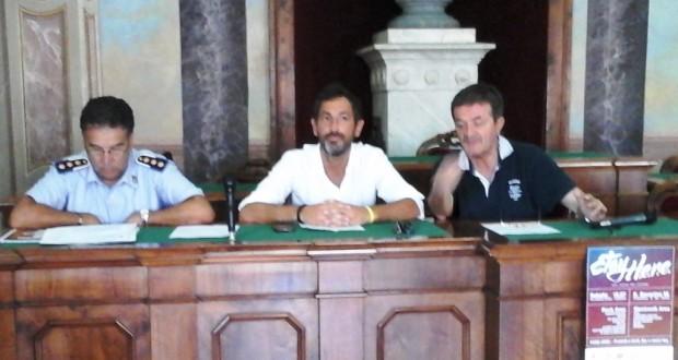 La conferenza stampa con il sindaco Martini, l'assessore Vitturini e il comandante Capaldi