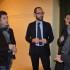 Lo scrittore Andrea Maggi con il direttore artistico Rapaccioni, il sindaco Martini e l'assessore Gregori
