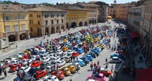 Le Fiat 500 al raduno in Piazza del Popolo