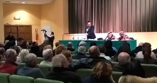 Un momento dell'assemblea pubblica organizzata dal Comitato