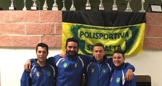 Gli azzurri della Polisportiva Serralta