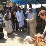 La consegna delle pecore alle famiglie più povere
