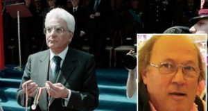 Luigi Ortenzi (nel riquadro) e il presidente della Repubblica, Sergio Mattarella