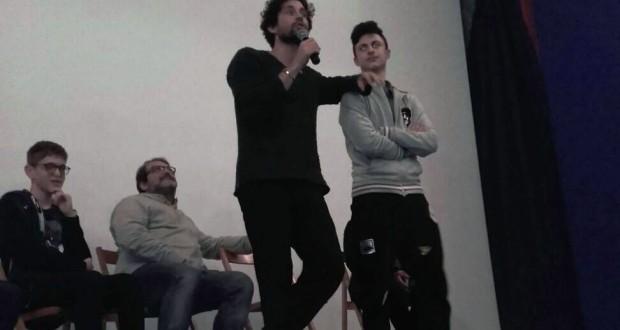 """L'attore Simone Riccioni sul palco del """"San Paolo"""""""