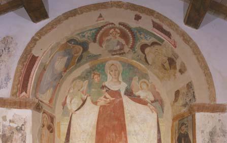 Madonna della Misericordia nella chiesetta di Paterno (opera di Lorenzo D'Alessandro)