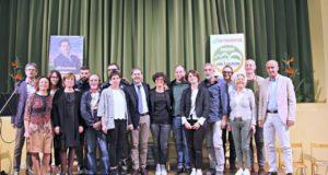 Francesco Borioni e gli altri membri della lista