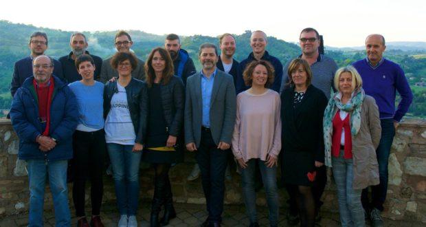 Francesco Borioni e i candidati della sua lista