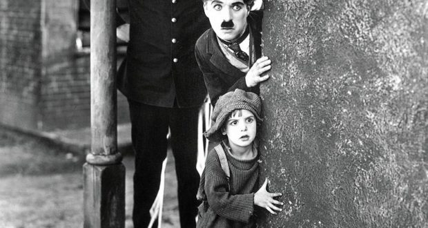 "Chaplin in ""The Kid"""