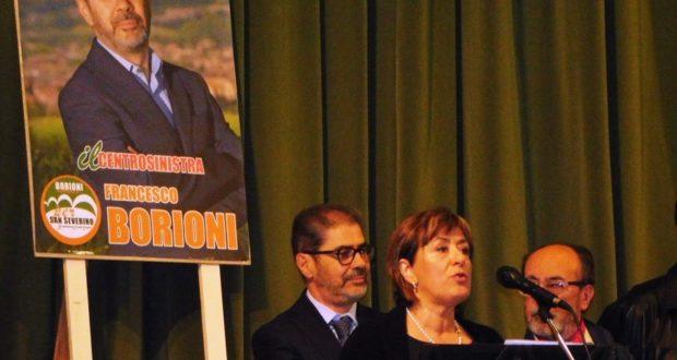 Francesco Borioni e Alessandra Aronne al momento della presentazione della lista