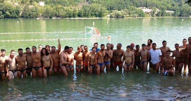 Gli atleti del Blugallery al lago di Caccamo