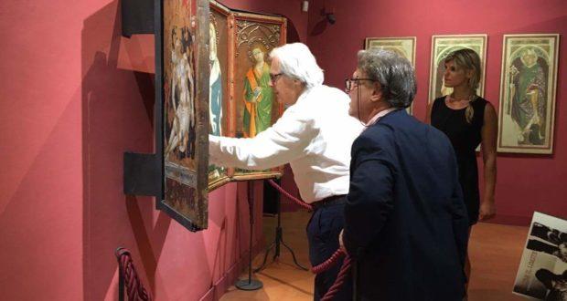 Sgarbi in Pinacoteca