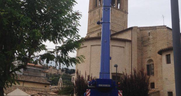 L'intervento alla torre di San Domenico