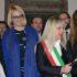 Il taglio del nastro: da sinistra Donella Bellabarba, l'on. Irene Manzi, il sindaco Rosa Piermattei e la figlia di Giorgio Zampa, Giovanna