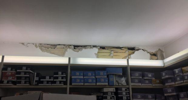 Un interno danneggiato dal sisma