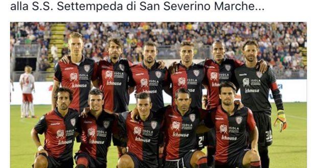 Il post sulla pagina Facebook del Cagliari