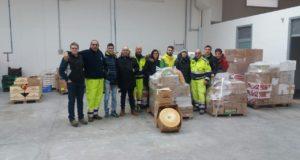 La delegazione trentina arrivata con gli aiuti