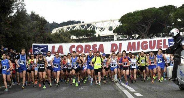 Roma, la partenza della corsa
