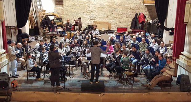 Le prove del concerto al Feronia