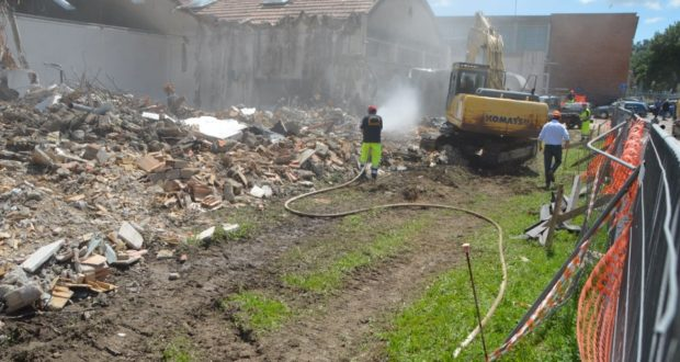 I vecchi laboratori Itis demoliti la scorsa estate