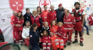 Volontari con la coordinatrice Elena Amici