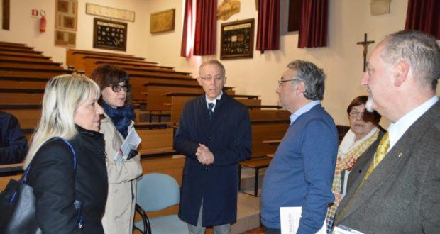 L'incontro al Professionale con il preside Rosati