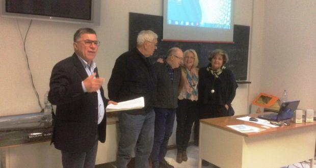Una delle tante iniziative dell'Uteam: la presentazione di un libro dello storico Raoul Paciaroni