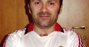 Graziano Borgiani con la maglia del suo Milan